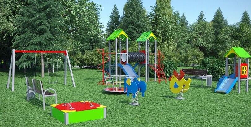 Проект детского игрового комплекса для улицы