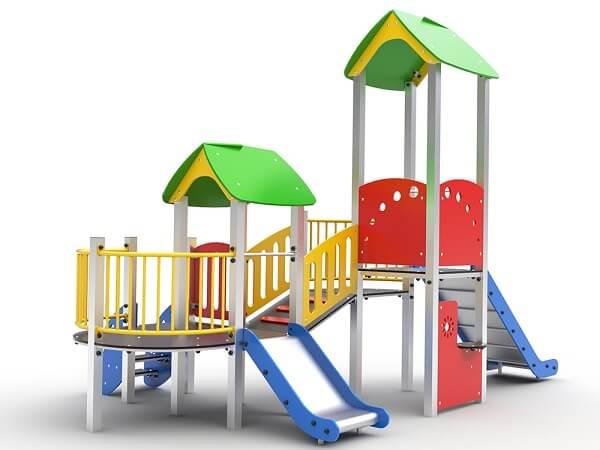 Размеры двора для детской игровой площадки